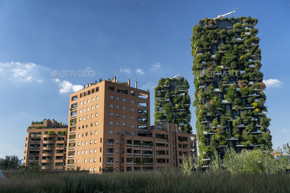 Bosco Verticale in Milan - Stock Photo - Images