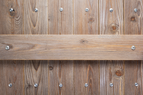 wooden background as texture surface with screws - Stock Photo - Images