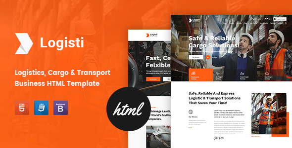 Logisti - Logistics & Transport HTML5 Template by 7oroof