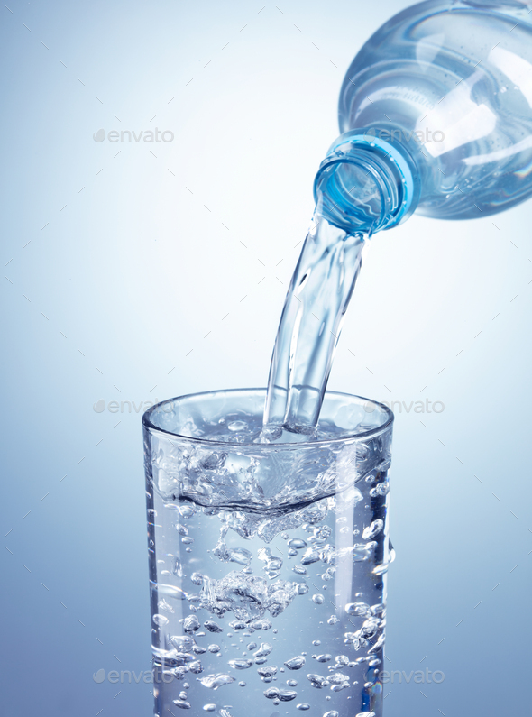 Pouring clean water - Stock Photo - Images