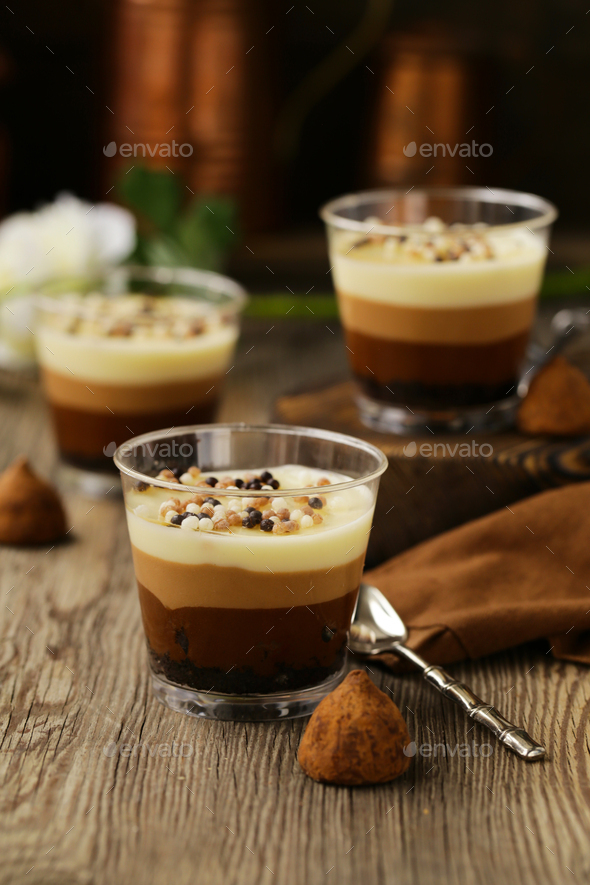 Chocolate Dessert in a Glass - Stock Photo - Images
