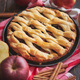 Traditional american apple pie served with fresh fruits - PhotoDune Item for Sale