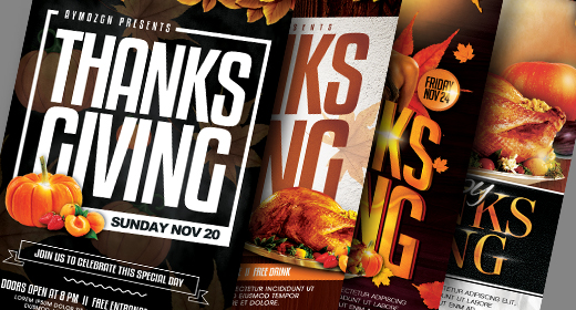 Thanksgiving Flyer Collection