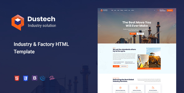 Dustech - Industry & Factory HTML Template