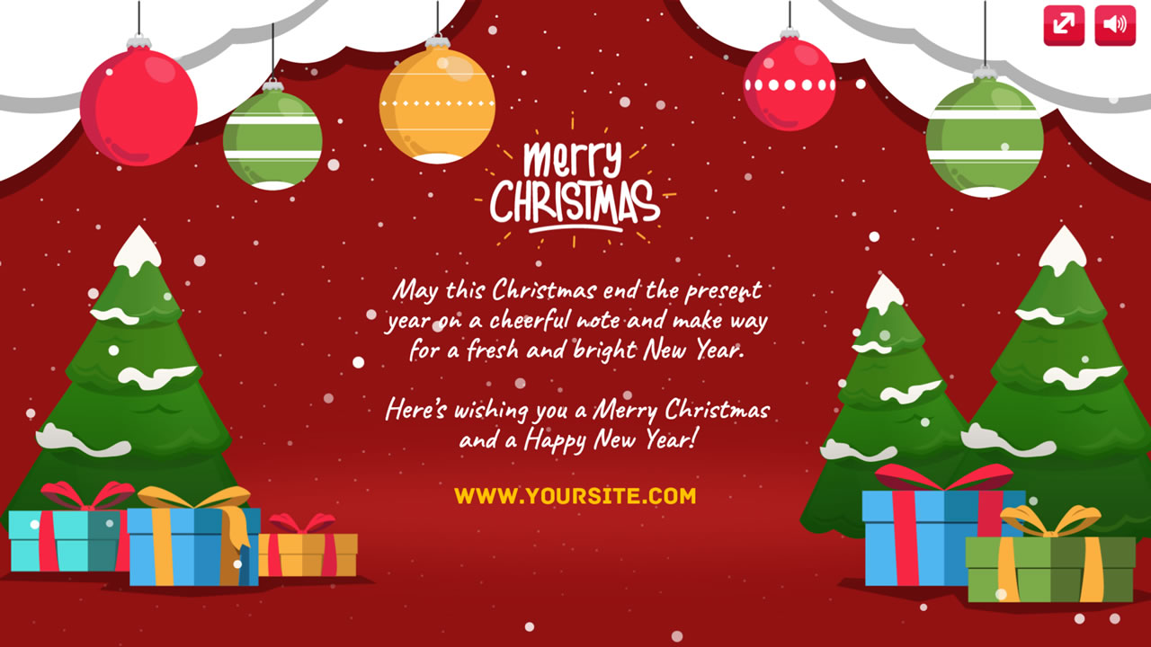 2020 Christmas Ecard 2020 Greeting eCards Package (Christmas, New Year, Valentine