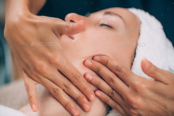 Face Lifting Fitness Massage - Stock Photo - Images
