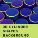 Abstract 3D Cylinder Shapes Background - VideoHive Item for Sale