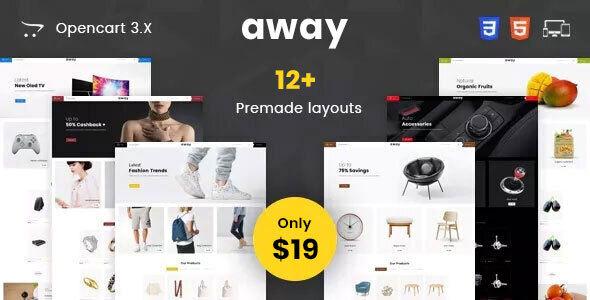 Away - Multipurpose Responsive Opencart 3.0 Theme