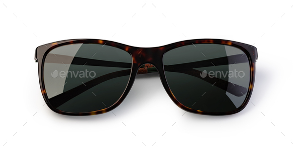 Black Sunglasses On a White - Stock Photo - Images