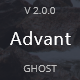 Advant - Modern Ghost Theme for Personal or Professional Blog