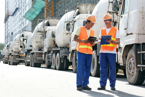 Civil engineers at site - Stock Photo - Images