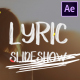 Lyric Slideshow | After Effects - VideoHive Item for Sale