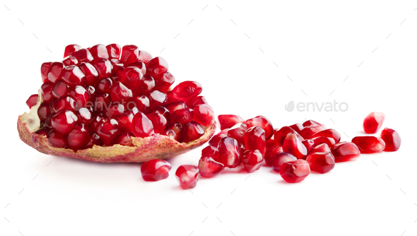 Piece of ripe pomegranate - Stock Photo - Images