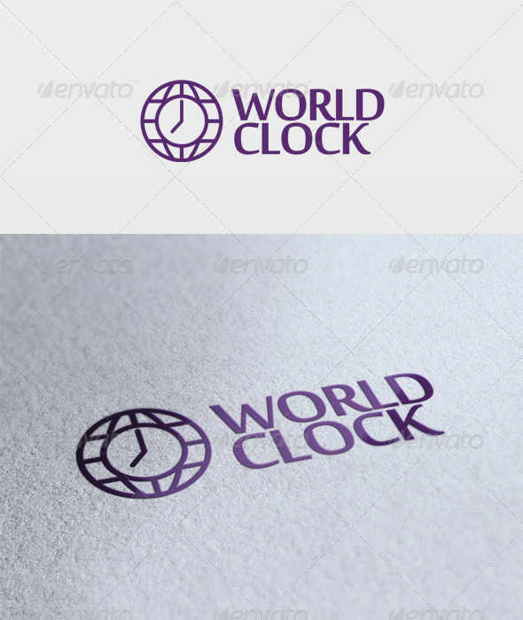 World Clock Logo - Symbols Logo Templates