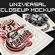 Universal Closeup Mockup Vol. 1 - Premium Kit - GraphicRiver Item for Sale