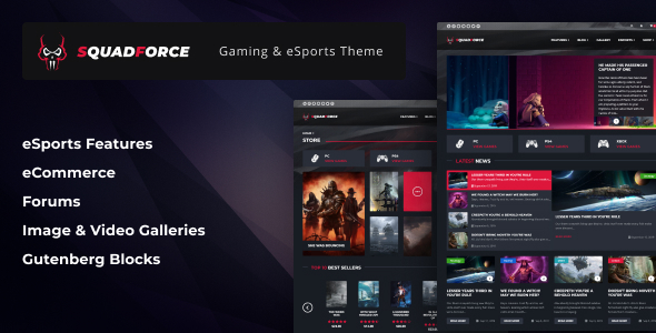 SquadForce - eSports Gaming WordPress Theme