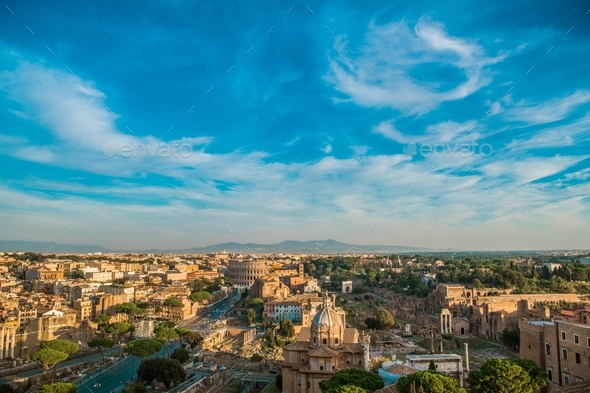 Rome Italy Cityscape - Stock Photo - Images