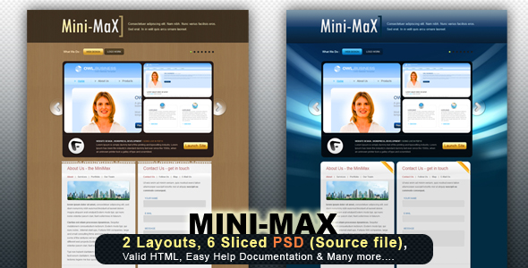 Free Download MiniMax - All in one - 2 layouts Nulled Latest Version