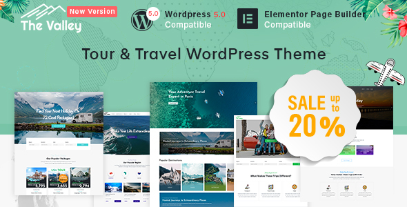 Valley - Tour & Travel Agency WordPress Theme