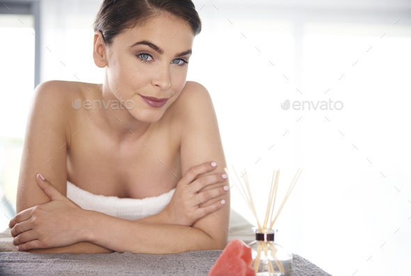 Woman looking at the camera - Stock Photo - Images