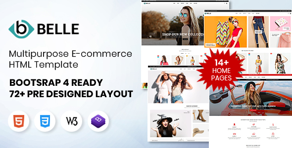 Belle Multipurpose Bootstrap 4 HTML Template by Annimex