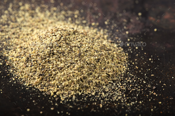 Black pepper powder - Stock Photo - Images