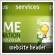 Website Headers with Navigation & Search - GraphicRiver Item for Sale