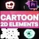 2D Cartoon Elements | Premiere Pro MOGRT - VideoHive Item for Sale