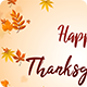 Happy Thanksgiving Text Greetings with Floating autumn Leaves - VideoHive Item for Sale