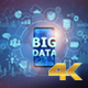 Big Data On Mobile Phone - Center (4K) - VideoHive Item for Sale