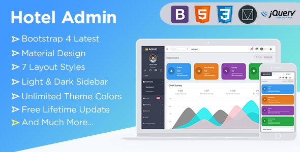 Spice Hotel | Bootstrap 4  Admin Dashboard Template With Material Components + UI Kit