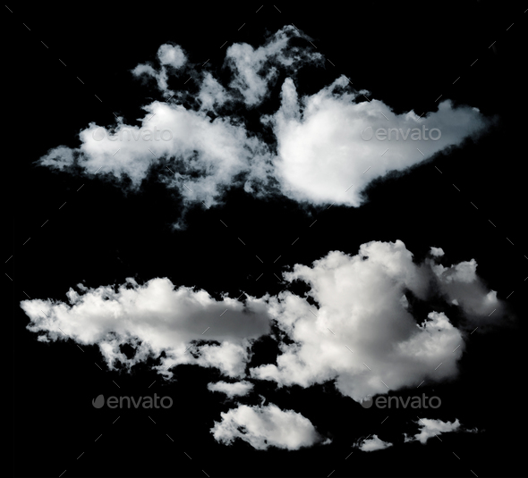 Black isolated clouds - Stock Photo - Images