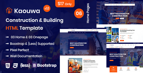 Kaouwa - Construction & Building HTML Template