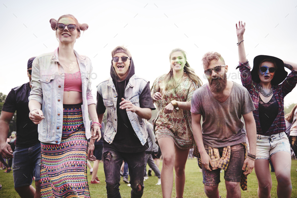 Group of people start the party - Stock Photo - Images