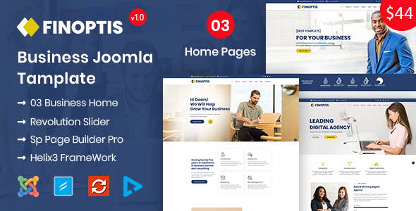 Finoptis - Business Joomla Template
