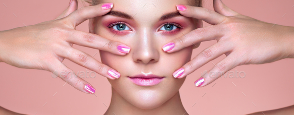 Beauty woman with perfect makeup - Stock Photo - Images