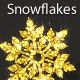 Snowflakes Golden Glitter 1 - VideoHive Item for Sale