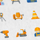 Construction & Painting Modern Flat Animated Icons - VideoHive Item for Sale