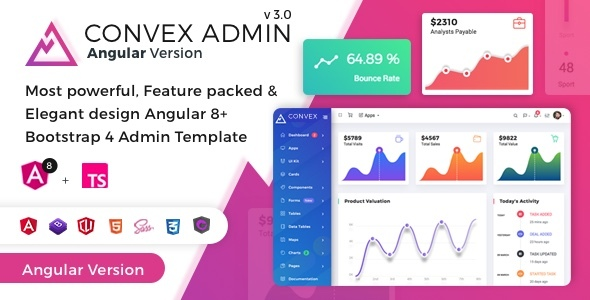 Convex - Angular Bootstrap Admin Dashboard Template