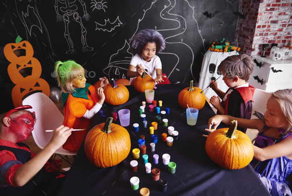 Pumpkin is a symbol of halloween - Stock Photo - Images