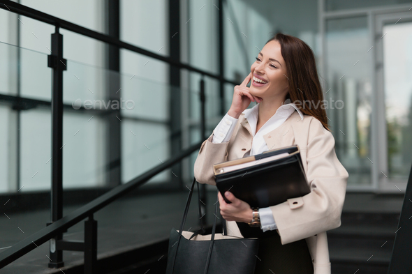 Professional beautiful and attractive businesswoman posing - Stock Photo - Images
