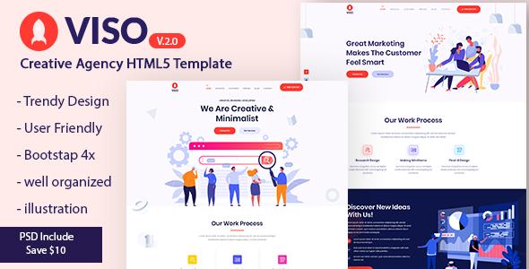 Incredible VISO - Creative Agency Portfolio Landing Page Template