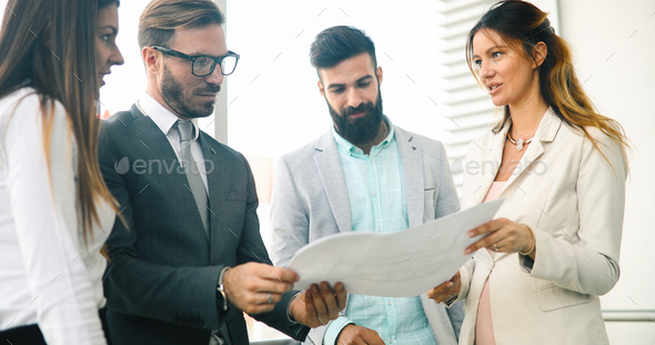 Business people day at modern business office - Stock Photo - Images