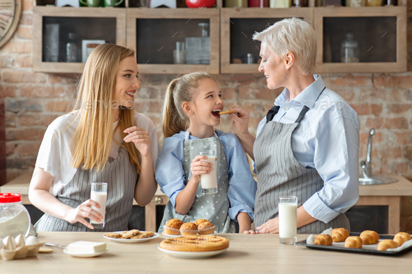 Female family spending time together on weekend - Stock Photo - Images