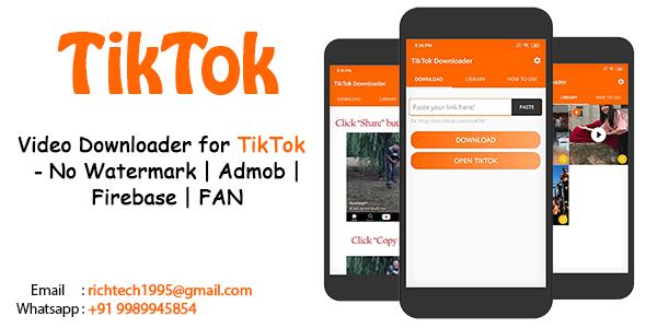 Download codecanyon Video Downloader for TikTok - No Watermark