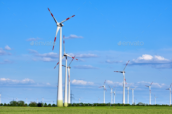 Wind energy generators - Stock Photo - Images