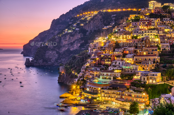 The famous village of Positano - Stock Photo - Images