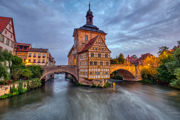 The historic Old Town Hall of Bamberg - Stock Photo - Images