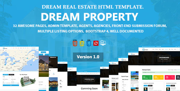 Extraordinary Dream Property - Real Estate HTML Template