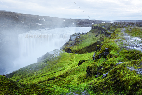 Splendid view of Dettifoss waterfall - Stock Photo - Images
